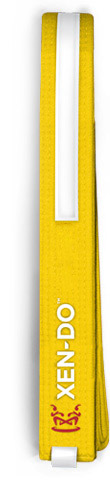 Xen-Do Yellow Stripe Kickboxing / Martial Arts Belt