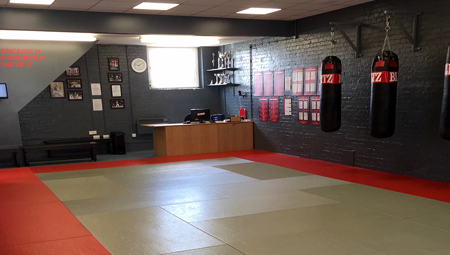 The training area at Xen-Do's Golders Green Kickboxing dojo in London