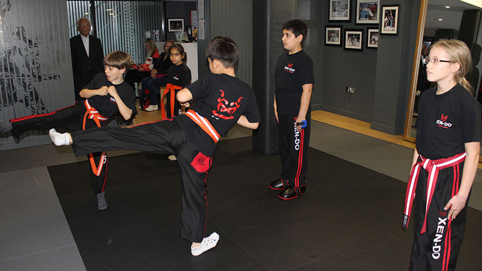 Children showing their Martial Arts action venue