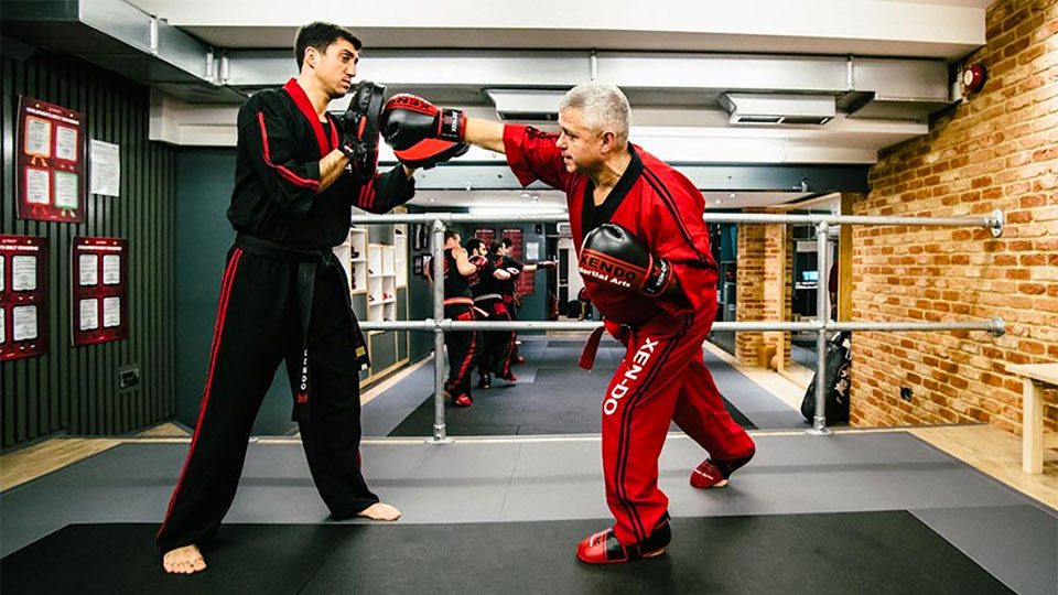 Dai Master Rafael Nieto and Sensei Anthony Nieto sparring image