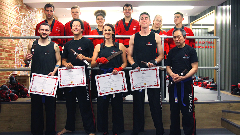 Xen-Do Kickboxing and Martial Arts senior students after successful brown belt grading