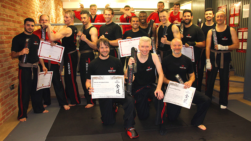 Xen-Do Kickboxing and Martial Arts senior students after successful black belt grading