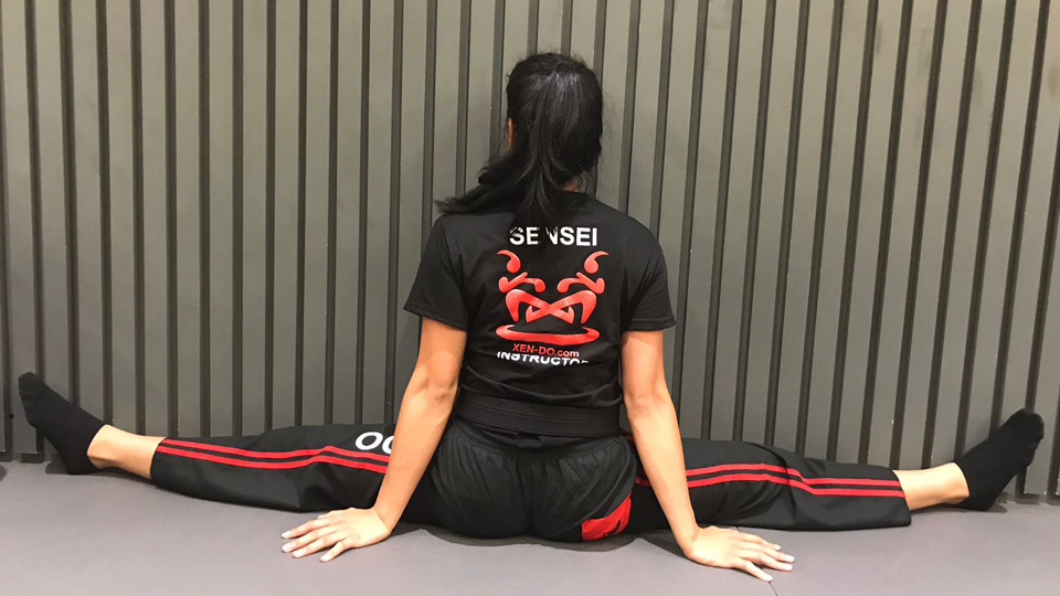 xen-do Flexibility Article July 2018 Student stretching