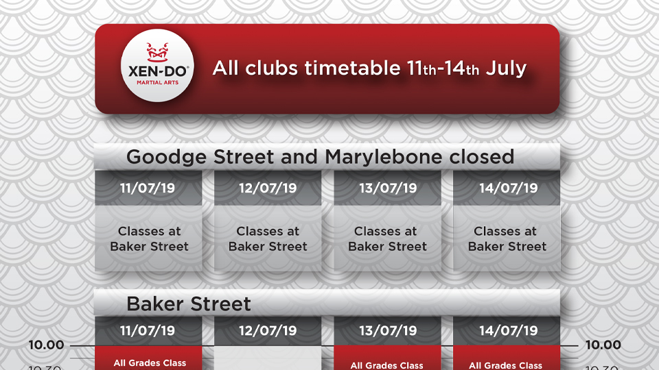 Goodge Street & Marylebone Closed 11th – 14th July 2019 timetable