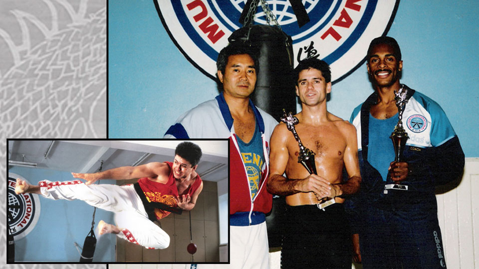 Montage of old photos of Dai Master Raf and other masters