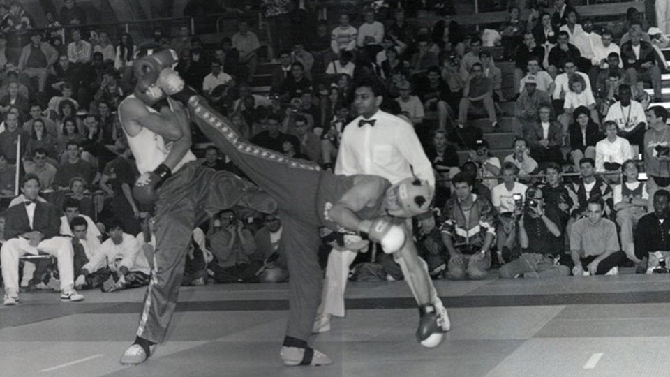 Martial arts black and white competition
