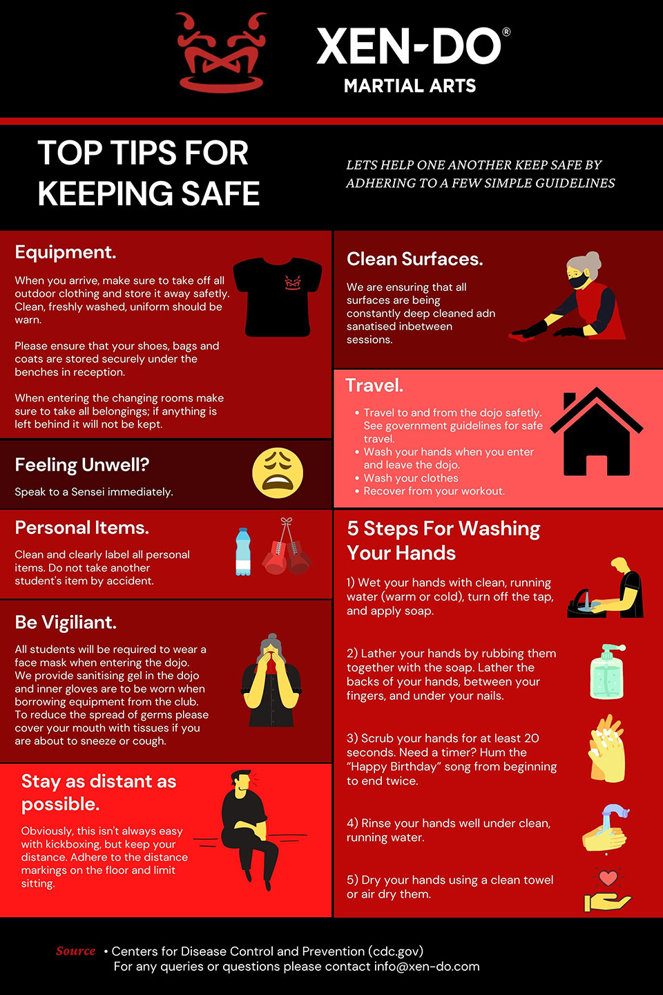 Xen-Do Top tips for safety poster